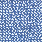 Moda Sphere by Zen Chic - 3184 - Blue Abstract Squiggle on Off-White - 1547 12 - Cotton Fabric